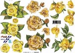 A4 Knipvel Le Suh 8215113 Gele rozen