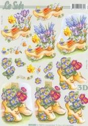A4 Knipvel Le Suh 8215223 Klomp met voorjaarsbloemen