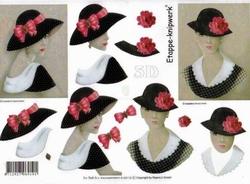 A4 Knipvel Le Suh 4169118 Dames met hoed met strik/bloem