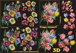 A4 Knipvel Le Suh 4169128 Viooltjes/tulpen