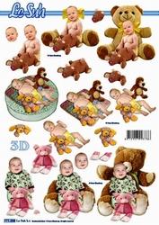 A4 Knipvel Le Suh 777288 Geboorte/baby met knuffel