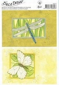 Deco Draw Borduurkaart DD010 nachtvlinder