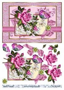 A4 Knipvel Barto Design 67460 Roze roos