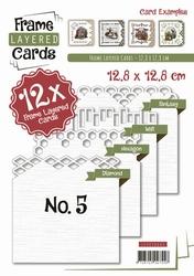 Linnen Layered Frame Cards LC4K10005/- 4kant