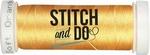 Stitch & Do 200 m Linnen SDCD10 Zacht oranje