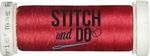 Stitch & Do 200 m Linnen SDCD34 Kerst rood
