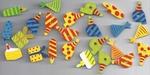 Crea Motion Zakje houten feest figuurtjes + 3