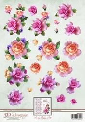 3D Knipvel Ann's Paper Art APA3D010 Spring Roses