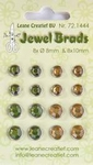 LeCreaDesign Jewel brads 721444  moss green/light gold