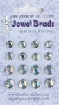 LeCreaDesign Jewel brads 721451 crystal