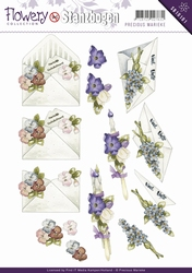 3D Stansvel Precious Marieke SB10101 Flowery Flower gift