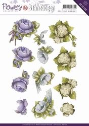 3D Stansvel Precious Marieke SB10100 Flowery Floral Corner