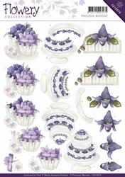 3D Knipvel Precious Marieke CD10670 Flowery Congratulations