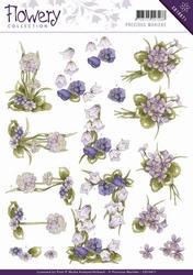 3D Knipvel Precious Marieke CD10671 Flowery Field flowers