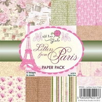 Wild Roses Studio Paper Pack PP023 Letters from Paris