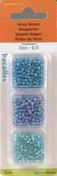 Rocailles glas parels regenboog 361 blauw/paars