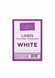 Crafters Companion Hammered Textured Cardstock - White