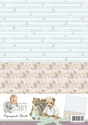 A4 Background Paper Amy Design ADPP10012 Baby Collection