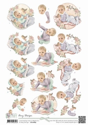 3D Knipvel Amy Design CD10684 Baby Collection Vintage baby