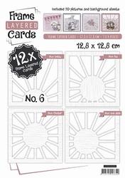 Linnen Layered Frame Cards LC4K10006/- 4kant