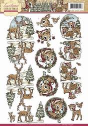 3D Knipvel Yvonne Creations CD10691/HJ Traditional Christmas