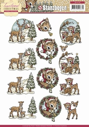 3D Push Out Yvonne Creations SB10106 Traditional Christmas