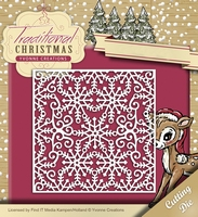 Yvonne's Die YCD10059 Traditional Christmas Snowflake Frame