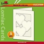Lomiac Luxe Kaart © LC2104 kaart met 3 hartjes wit