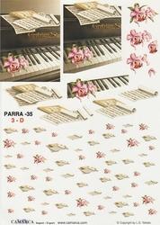 A4 Knipvel Parra 35 Piano bloem en achtergrond