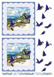 A4 Knipvel Barto Design 67044 Vogels in de winter