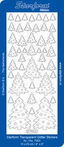 Stickervel Starform Glitter Transparant 7053 bomen
