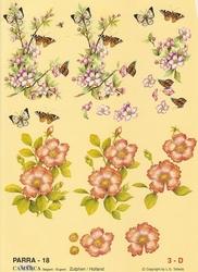 A4 Knipvel Parra 18 Bloemtak met vlinders