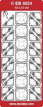 Doodey Stickervel Transparant EB4654 Hoekjes