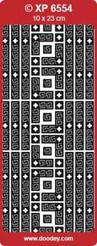 Doodey Stickervel Transparant XP6554 Hoekjes/lijntjes