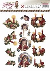 3D Stansvel Amy Design SB10111 Christmas Greetings Kaarsen