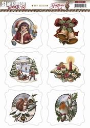 Stansvel Topper Amy Design SB10110 Christmas Greetings