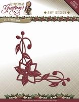 Amy Design Die Christmas Greetings ADD10071 Poinsetta Corner
