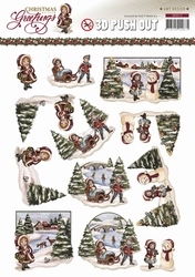 3D Knipvel Amy Design CD10720 Christmas Greetings Landschap