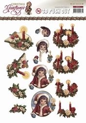 3D Knipvel Amy Design CD10718/HJ13601 Christmas Greetings