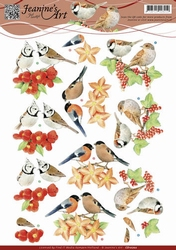 3D Knipvel Jeanines Art CD10702 Vogeltjes