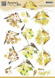 3D Knipvel Jeanines Art CD10701 Vogeltjes