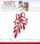 Yvonne's Die YCD10038 Cozy Christmas Mistletoe