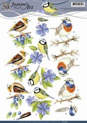 3D Knipvel Jeanines Art CD10700 Vogeltjes