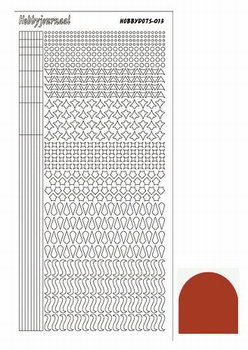 Stickervel Hobbydots Mirror STDM13H Christmas Red