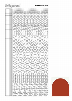 Stickervel Hobbydots Mirror STDM14H Christmas Red