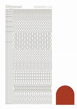 Stickervel Hobbydots Mirror STDM15H Christmas Red