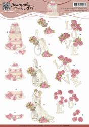 3D Knipvel Jeanines Art CD10598 Huwelijk