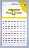 Nellie Snellen Adhesive pearls APS306 3-colors - Purple