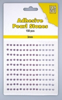 Nellie Snellen Adhesive pearls APS306 3-colors - Purple