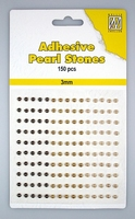 Nellie Snellen Adhesive pearls APS305 3-colors - Brown